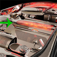 C5 Lighted Performance Style Low Profile LIT Plenum Cover