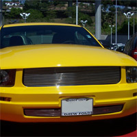 2005-2009 Mustang V6 Billet Overlay Grille (Upper and Lower)