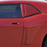 Dodge Challenger Xenon Quarter Window Scoops - 08-13