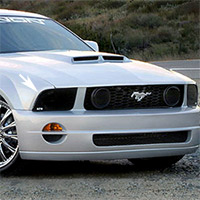 05+ Mustang Smoked Headlight Covers