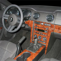 Small Wood Dash Kit - Mustang 2005-2009 Coupe or Convertible