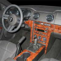 Small Wood Dash Kit Upgrade - Mustang 05-09 Coupe or Convertible