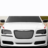 Chrysler 300 Headlight Covers 2pc Smoke - 05-13