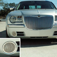 Chrysler 300C/SRT8 Stainless Billet Style Fog Light Grilles