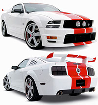 "05+ 3dCarbon Mustang GT ""Boy Racer"" 10pc. Body Kit"