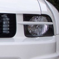 Pre-Painted 3dCarbon Headlight Splitters -05-09 Mustang V6 & GT