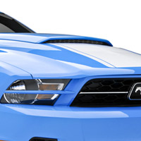 2010-2013 Mustang 3D Carbon No Drill Hood Scoop