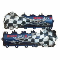 ROUSH 427R in Blue w/ Checkered Flag Valve Covers - 05-09