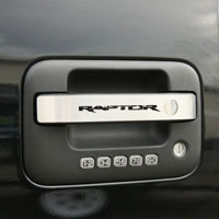 Ford Raptor 4pc Door Handle Pulls Brushed - 2010-2013
