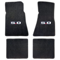 Lloyd Mats Grey 4pc. Floor Mats with Logos - 86-93