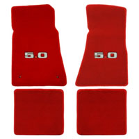 Lloyd Mats Red 4pc. Floor Mats with Logos - 86-93