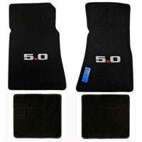Lloyd Mats Black 4pc. Floor Mats with Logos - 86-93