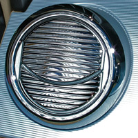 Chrome Air Vent Louver Covers