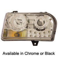 Chrysler 300 ANZO Projector Beam Headlights w/Halo - 05-09