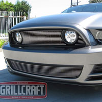 Mustang GT BG Grille Upper 3pc (w/o Logo Cut Out) - 2013+