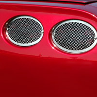 C5 Diamond Laser Mesh Stainless 4pc Taillight Grilles
