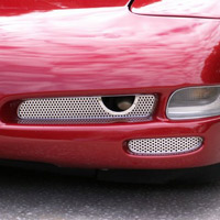 C5 2-PC Stainless Perforated Fog Light Grilles