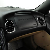 C5 Corvette 6pc Stainless Dash Kit
