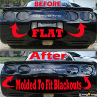 C5 & Z06 Corvette 7pc. Rear Blackout Kit - 97-04