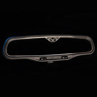 C5 Corvette Crossed Flag Style Rear View Mirror Trim
