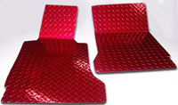 C6 Corvette Red Diamond Plate Floor Mats