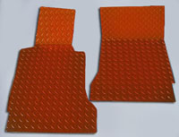 C6 Corvette Orange Diamond Plate Floor Mats