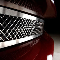 C6 All Stainless Diamond Laser Mesh Grille - 2005-2012