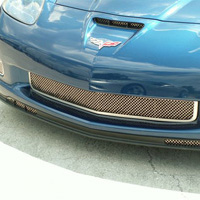 Z06, GS, ZR-1 All Stainless Diamond Laser Mesh Grille - 06-12