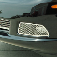 C6 2 pc Diamond Laser Mesh Driving Light Covers -05-12