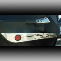 C6 Corvette Brushed Stainless Black Flame Door Guard Set
