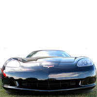 C6 Acrylic Driving/Fog Light Blackout Kit - 05-09