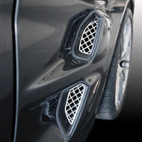 C6 & ZR1 4pc Front Stainless Side Vent Overlays