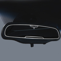 2005-2013 Corvette Crossed Flag Style Rear View Mirror Trim