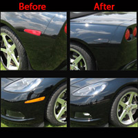 C6 Corvette Acrylic Side Marker Blackout Covers - 05+