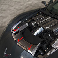 Corvette C7 2pc Nose Cap - 2014