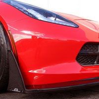 Corvette C7 Front Bumper Canards and Spats - 2014+