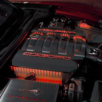 Corvette C7 2pc Illumin. Fuel Rail Cover Factory Overlays - 2014