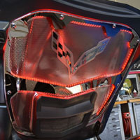 C7 Stingray/Z06 Illuminated Hood Trim w/Center Brace - 2014-15