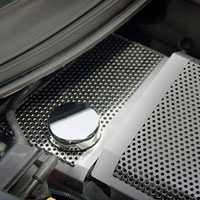 Corvette C7 Perforated/Brushed Water Tank Cover - 2014
