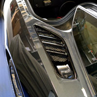 Corvette C7 2pc Rear Quarter Vent Grilles Matrix Series - 2014