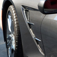 Corvette C7 4pc Retro Style Side Spears Chrome - 2014+