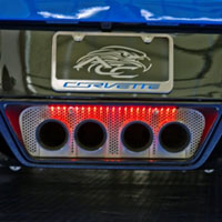 Corvette C7 Exhaust Filler Panel Perf Standard Illuminated-2014+