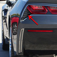 Corvette C7 2pc Taillight Grilles Matrix Series Polished - 2014+