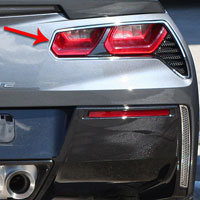 Corvette C7 2pc Corvette Stingray Taillight Trim Ring - 2014+