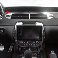 Camaro 3pc A/C Center Vent Trim Kit - 2012 & Up