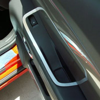 Camaro 2pc Brushed Stainless Door Handle Pull Trim - 10-12