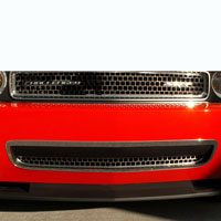 Challenger Brushed Grille Overlay Style Lower - 08-10