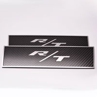 "Challenger 2pc Carbon/Fiberglass Door Badge Plate w/""R/T""-08-13"