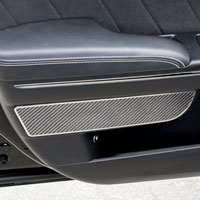 Charger 2Pc Carbon Fiber Front Door Badges - 11-15