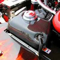 Mustang FG or Carbon Fiber Coolant Overflow Tank Cover - 05-09